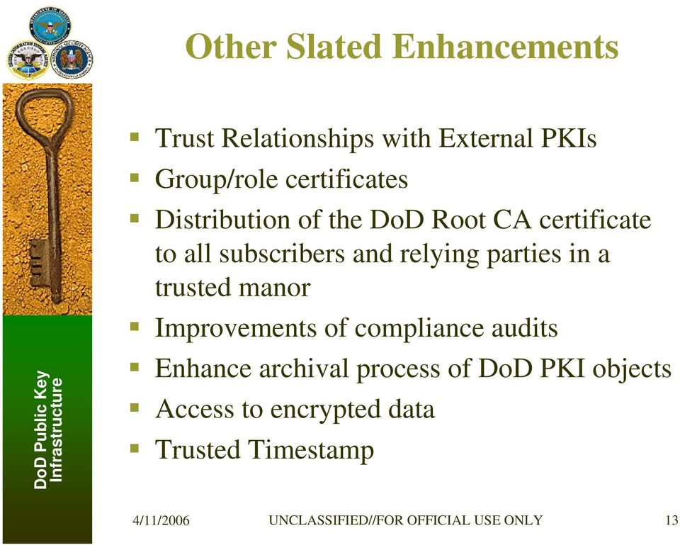 parties in a trusted manor Improvements of compliance audits Enhance archival process