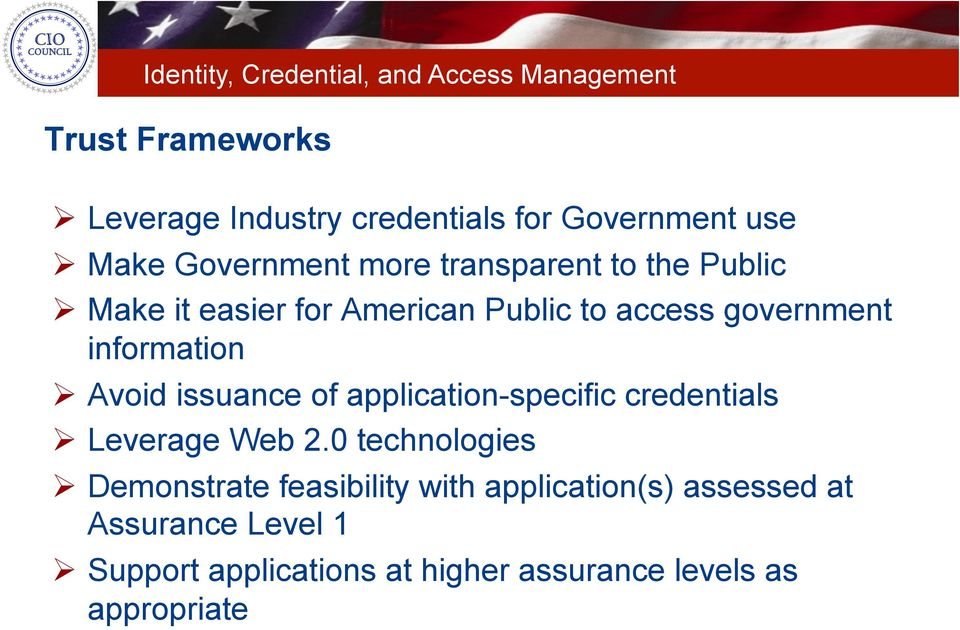 application-specific credentials Leverage Web 2.