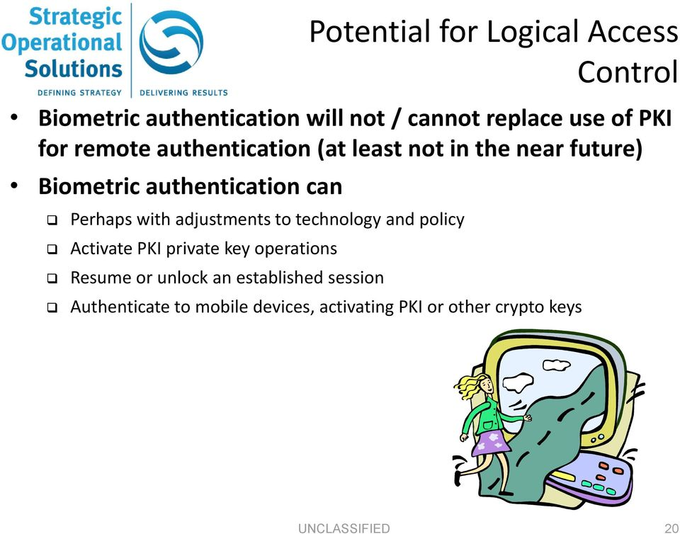 with adjustments to technology and policy Activate PKI private key operations Resume or unlock an