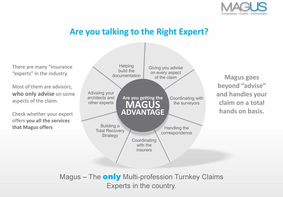 Check whether your expert offers you all the services that Magus offers Magus goes beyond