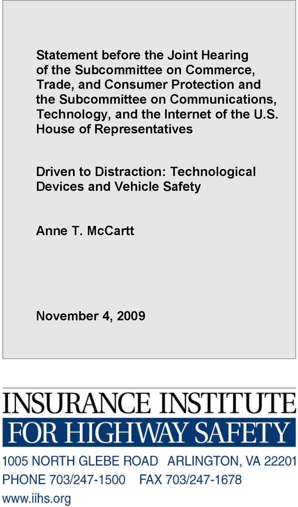 Technology, and the Internet of the U.S.