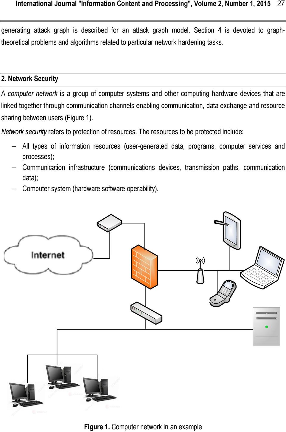 And Resource Sharing Between Users Figure 1 Network Security Refers To Protection Of