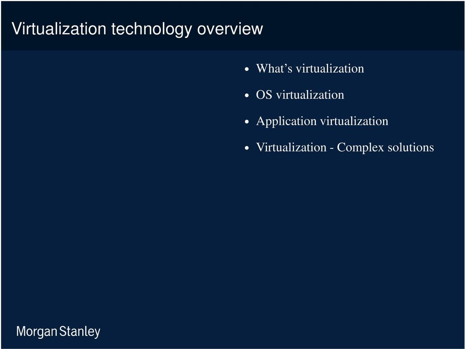 virtualization Application