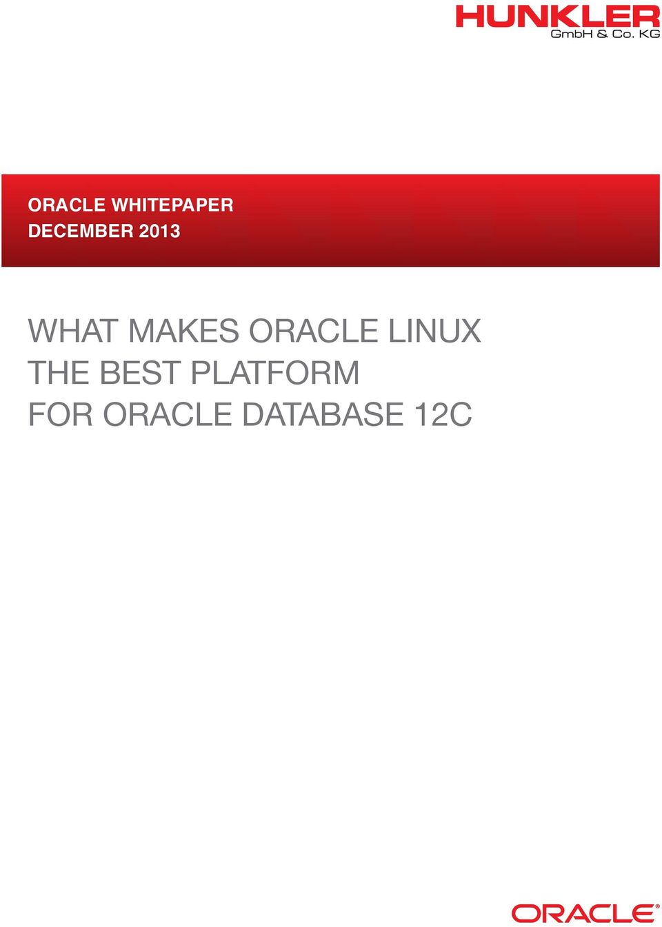 Oracle Linux the Best