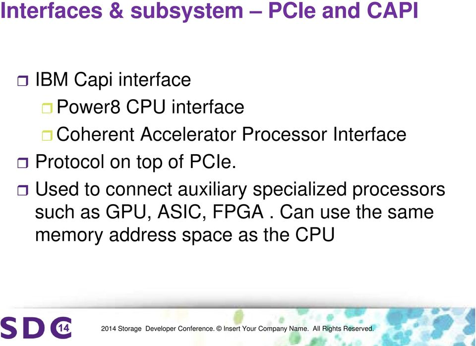 of PCIe.