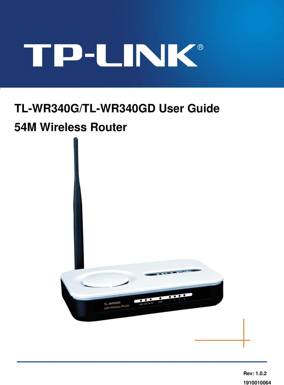 tp link router user manual pdf