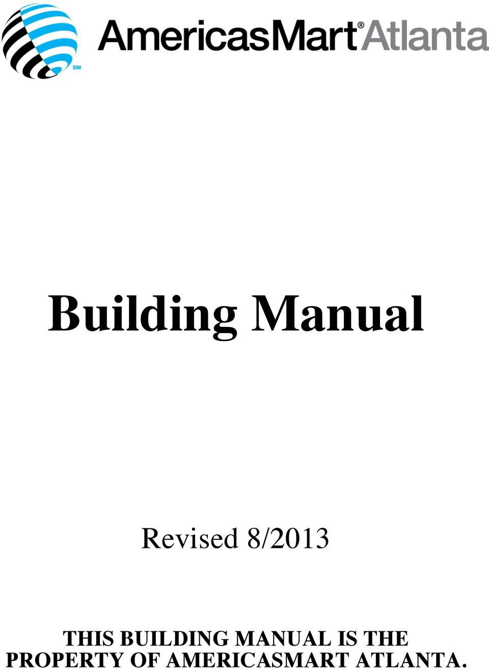 BUILDING MANUAL IS THE