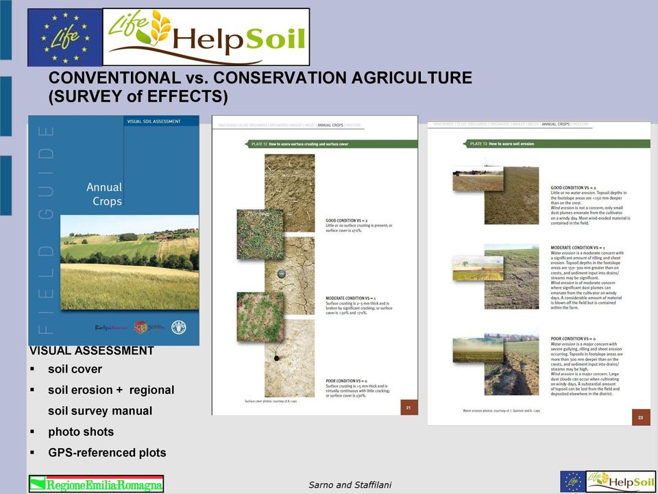 EFFECTS) VISUAL ASSESSMENT soil cover