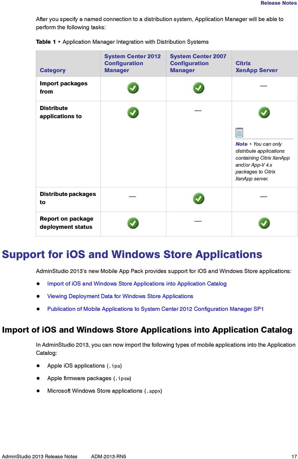 applications containing Citrix XenApp and/or App-V 4.x packages to Citrix XenApp server.
