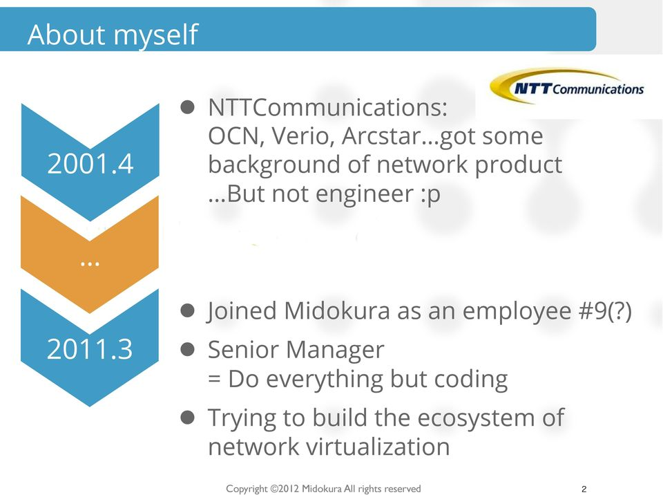 product But not engineer :p l Joined Midokura as an employee #9(?) 2011.