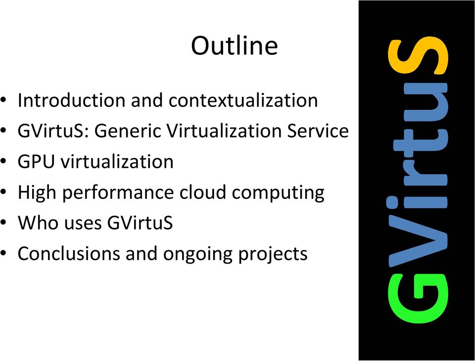 virtualization High performance cloud