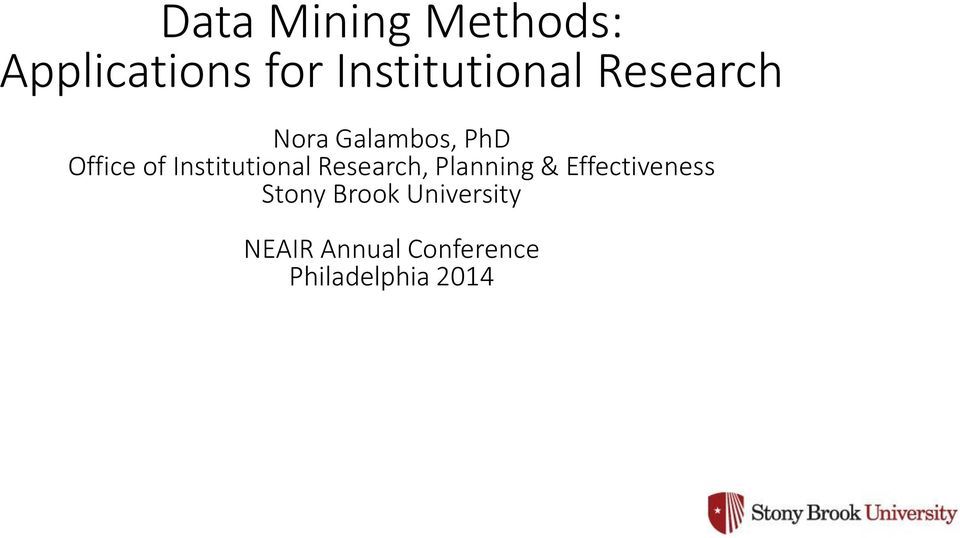 of Institutional Research, Planning &