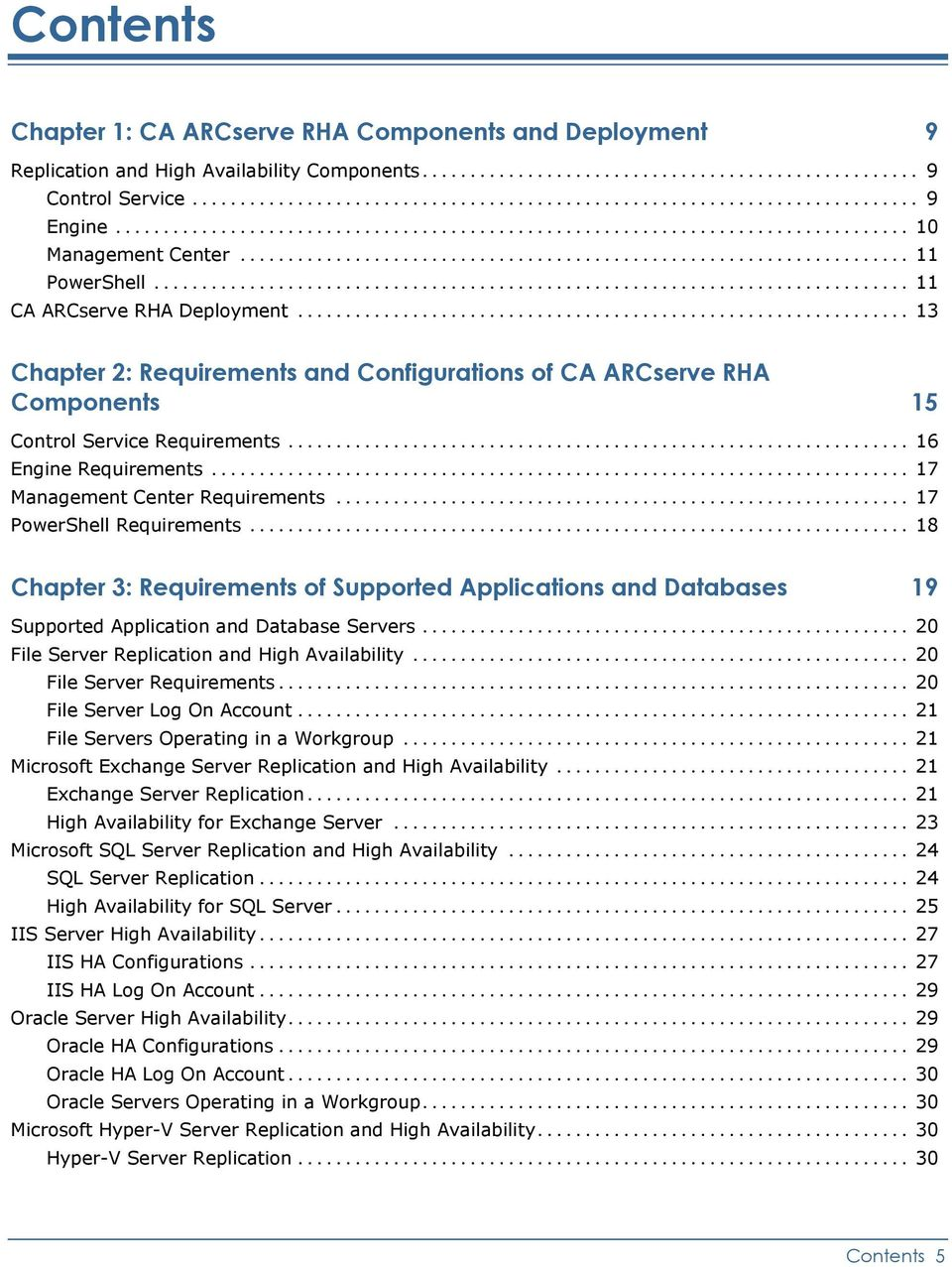 .. 17 Management Center Requirements... 17 PowerShell Requirements... 18 Chapter 3: Requirements of Supported Applications and Databases 19 Supported Application and Database Servers.