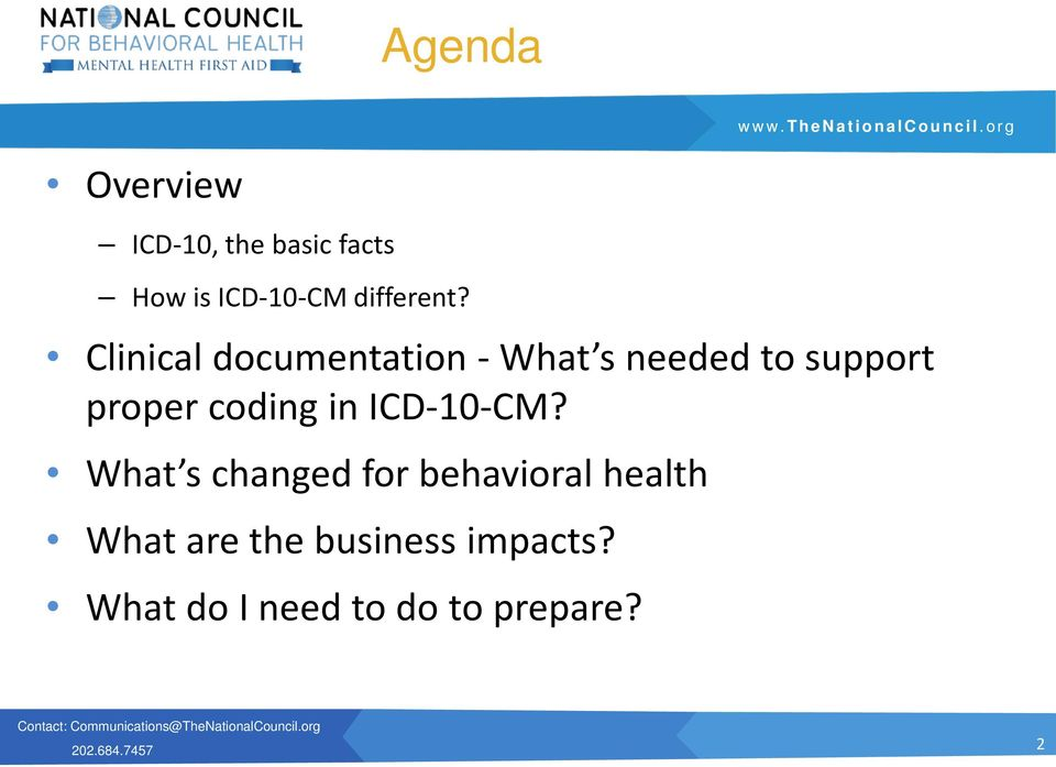 Clinical documentation - What s needed to support proper coding in