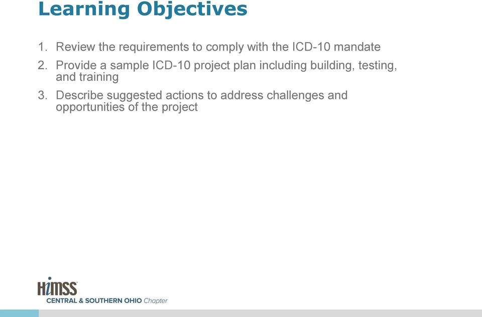 Provide a sample ICD-10 project plan including building,