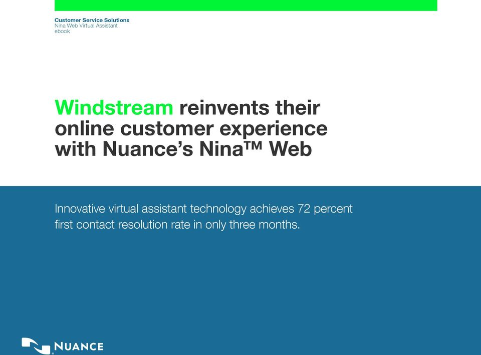 Nuance s Nina Web Innovative virtual assistant technology