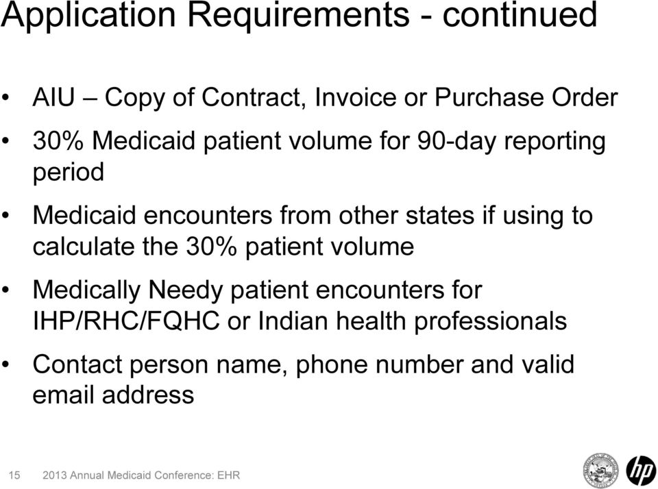 if using to calculate the 30% patient volume Medically Needy patient encounters for