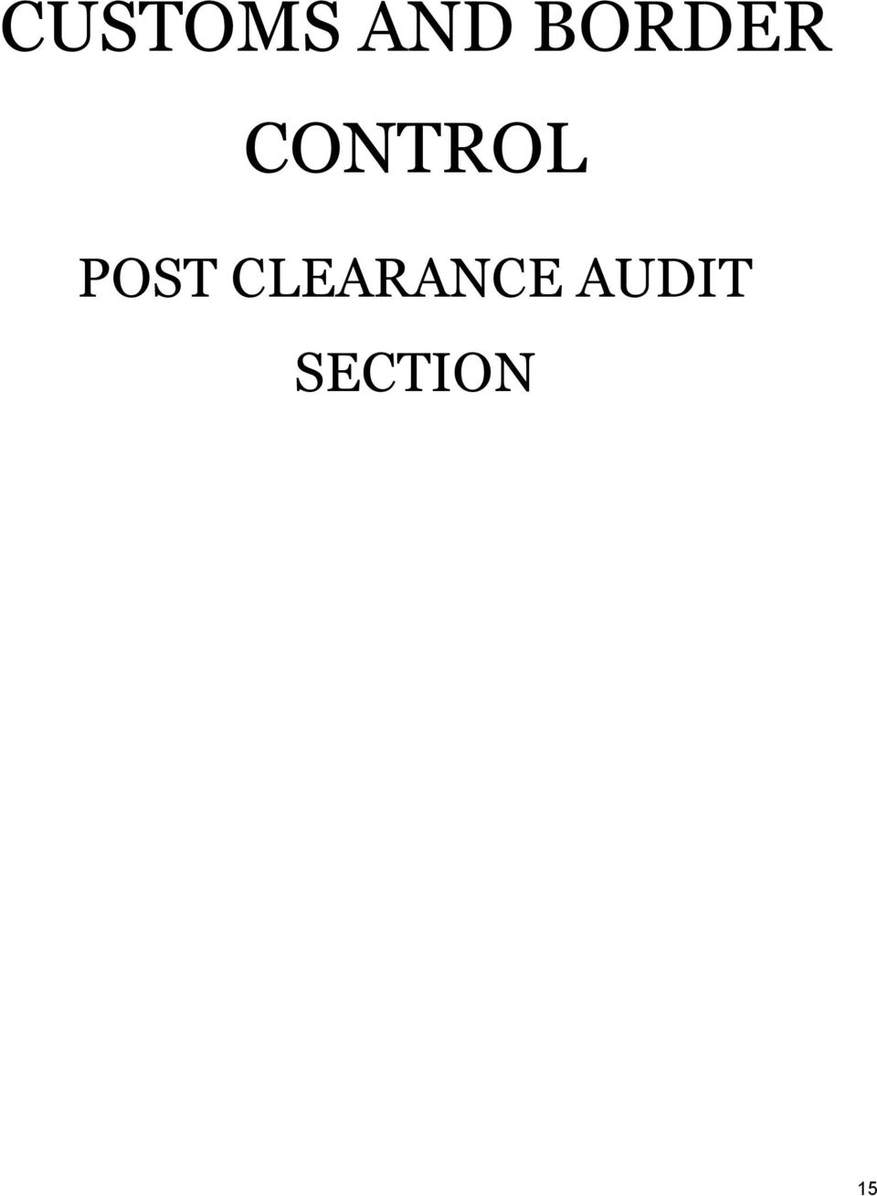 POST CLEARANCE