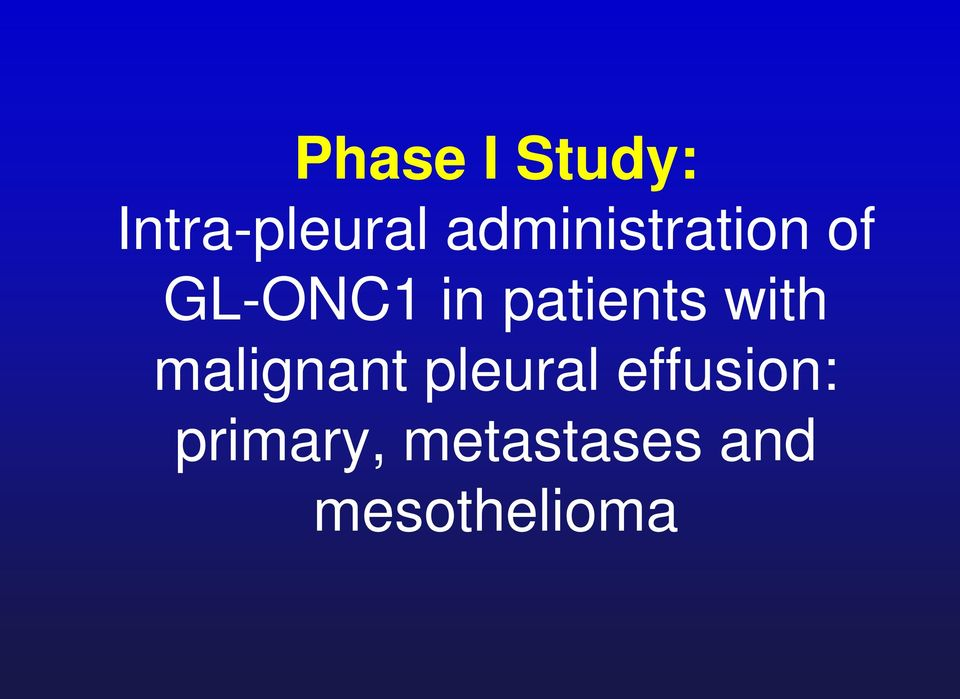 patients with malignant pleural