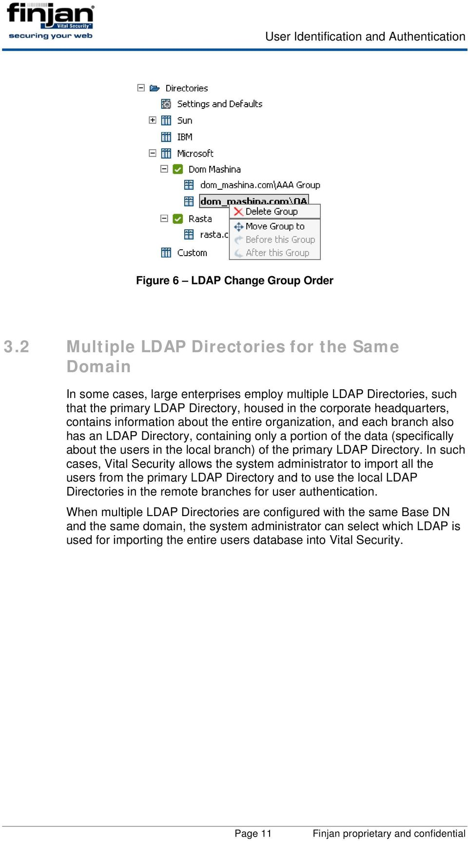 information about the entire organization, and each branch also has an LDAP Directory, containing only a portion of the data (specifically about the users in the local branch) of the primary LDAP