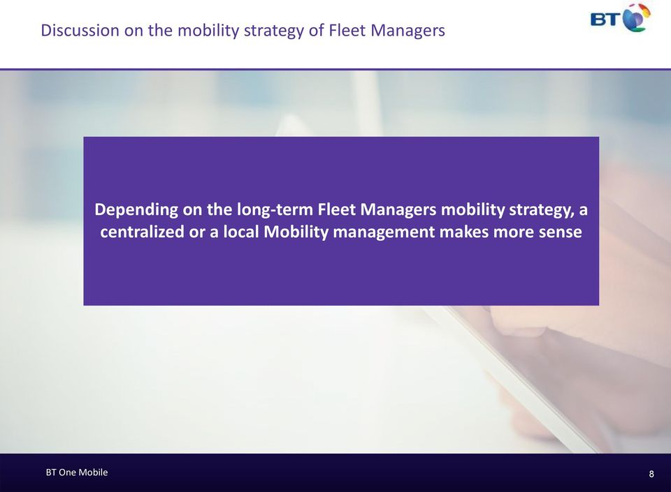 Managers mobility strategy, a centralized or a