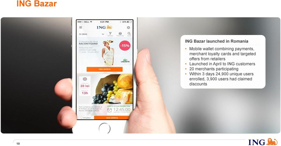 Launched in April to ING customers 20 merchants participating Within