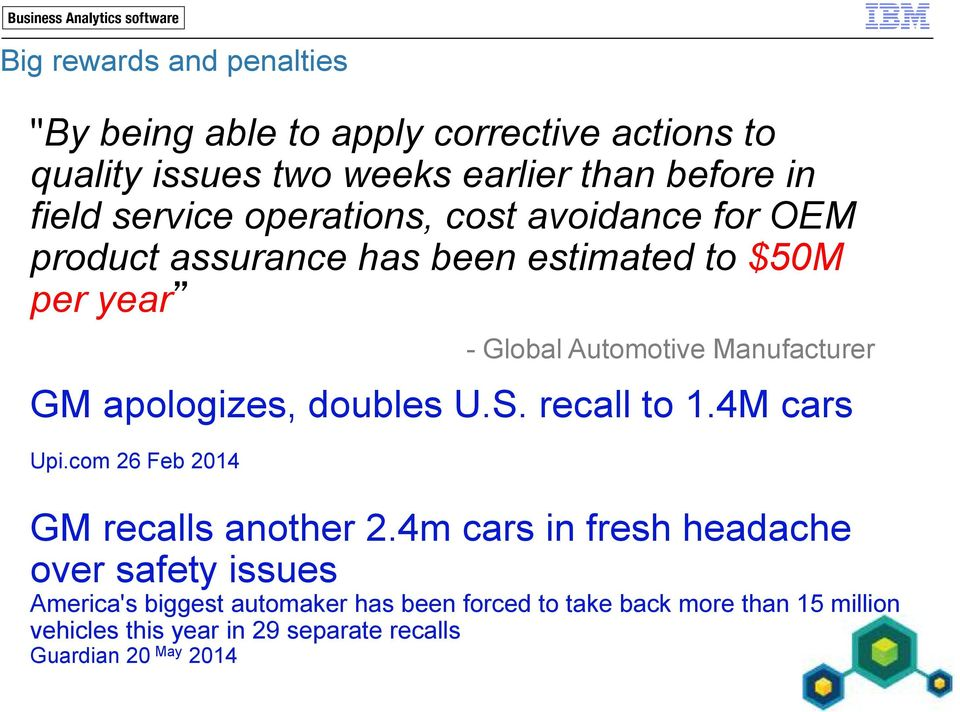 apologizes, doubles U.S. recall to 1.4M cars Upi.com 26 Feb 2014 GM recalls another 2.