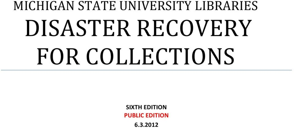 RECOVERY FOR COLLECTIONS