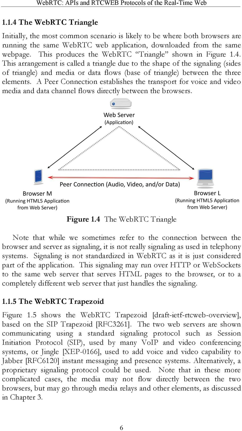This produces the WebRTC Triangle shown in Figure 1.4.