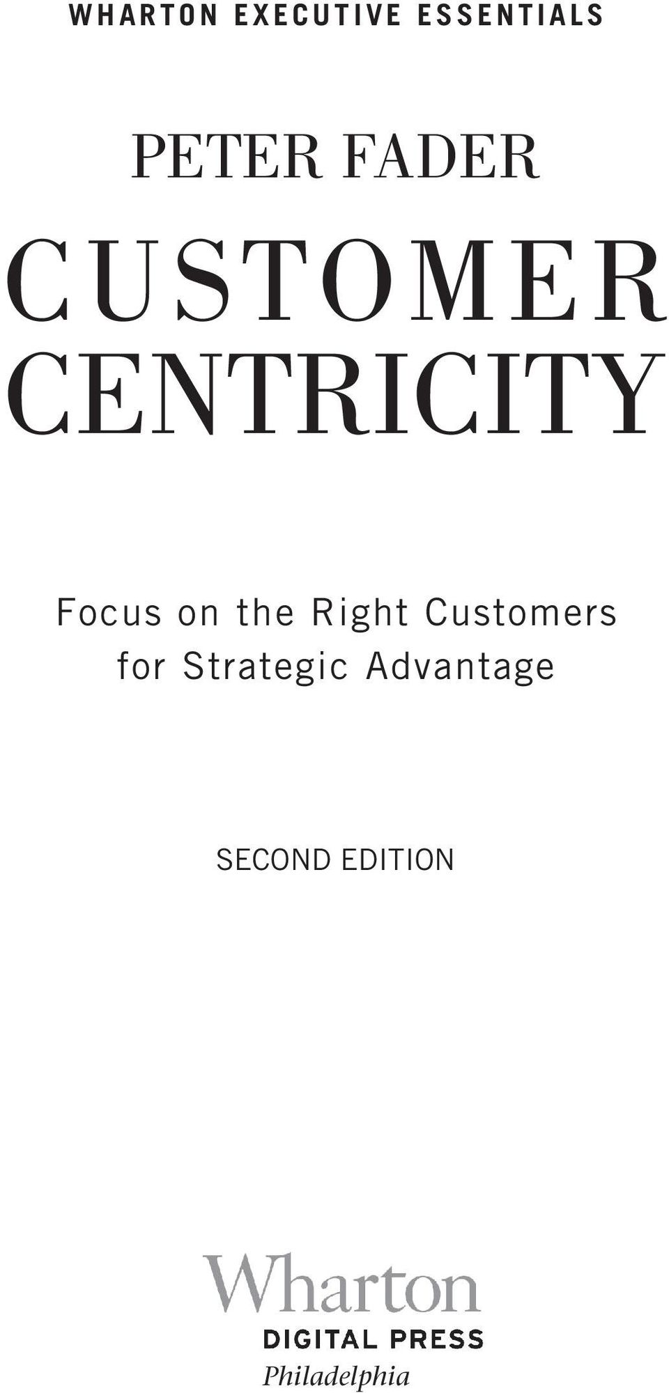 the Right Customers for Strategic