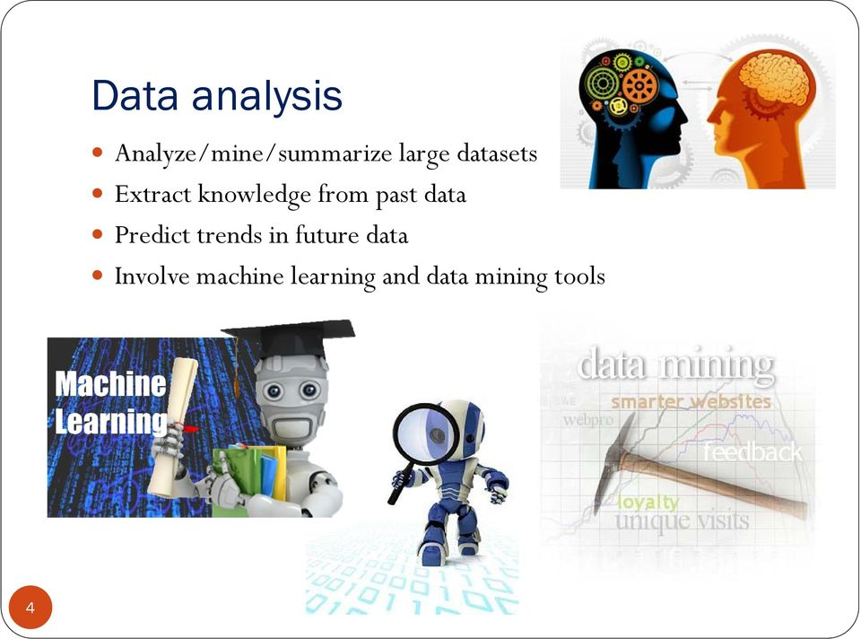 past data Predict trends in future data