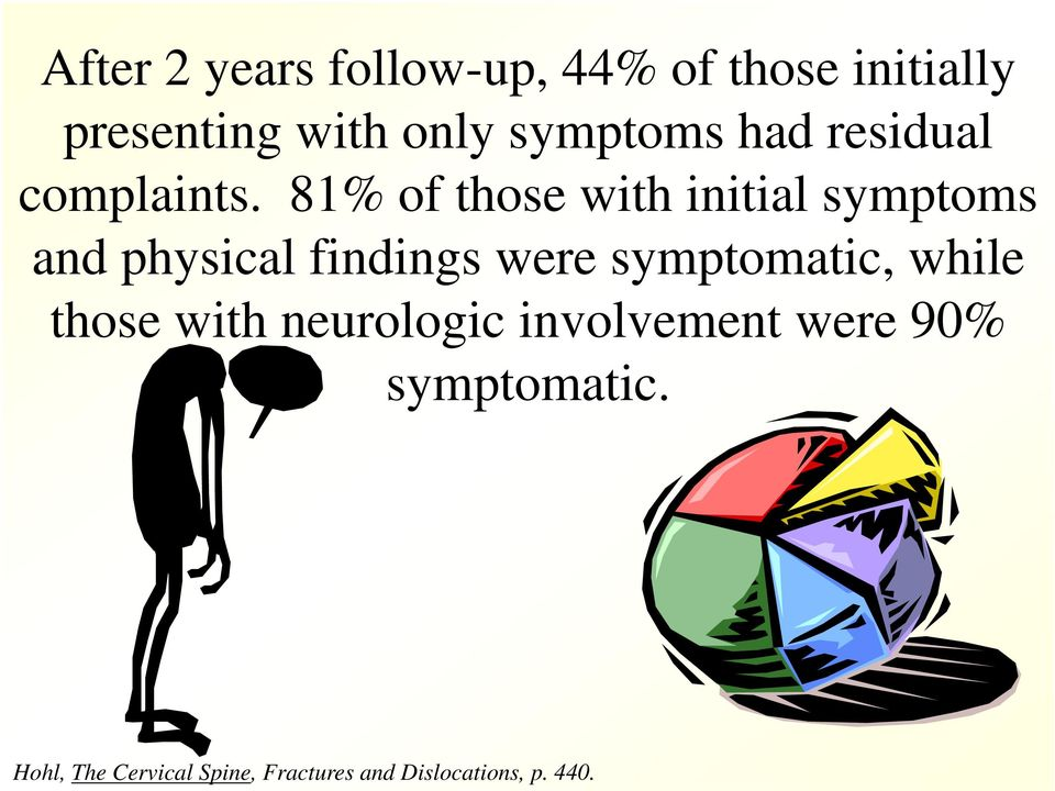 81% of those with initial symptoms and physical findings were symptomatic,