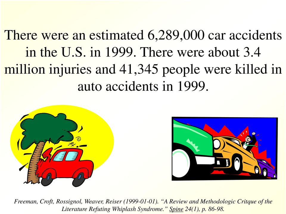 4 million injuries and 41,345 people were killed in auto accidents in 1999.