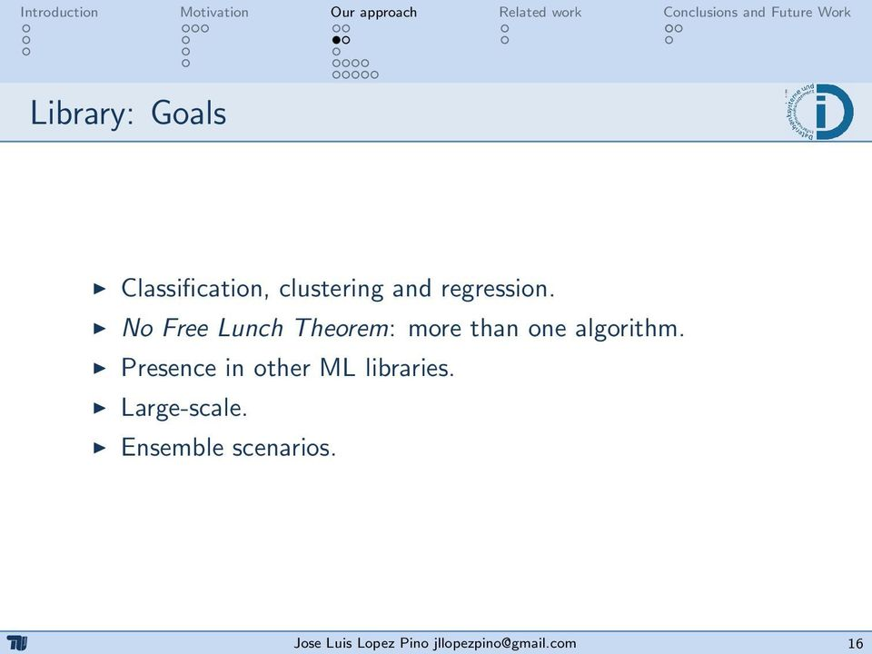 No Free Lunch Theorem: more than one algorithm.