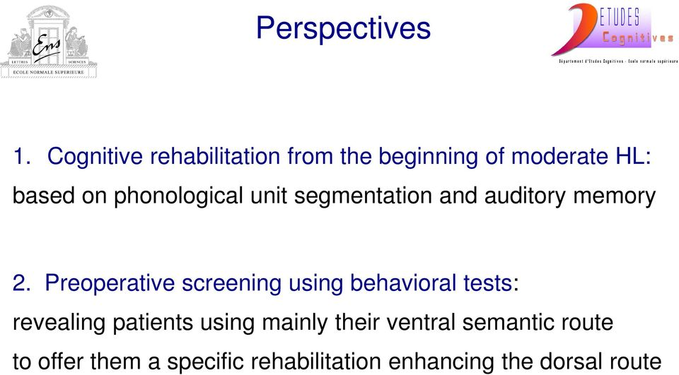 phonological unit segmentation and auditory memory 2.