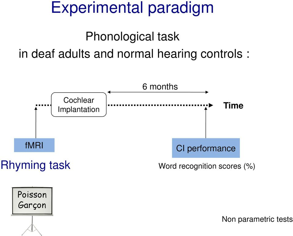 months Time fmri Rhyming task CI performance Word