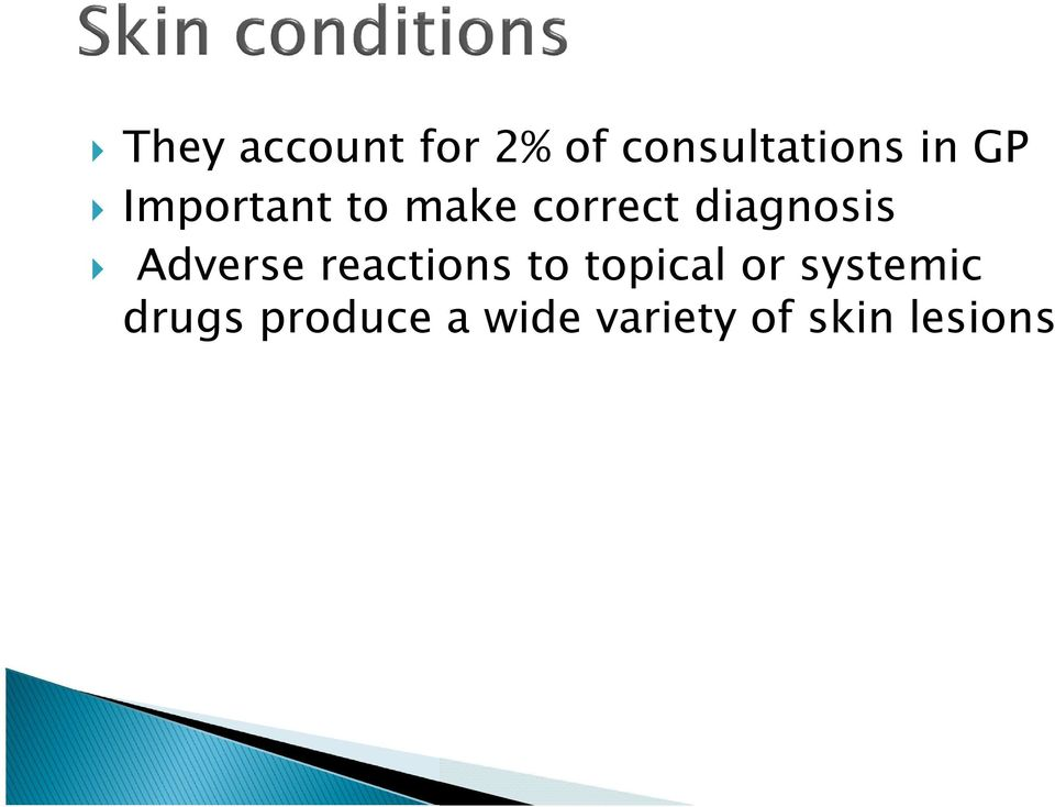 Adverse reactions to topical or systemic