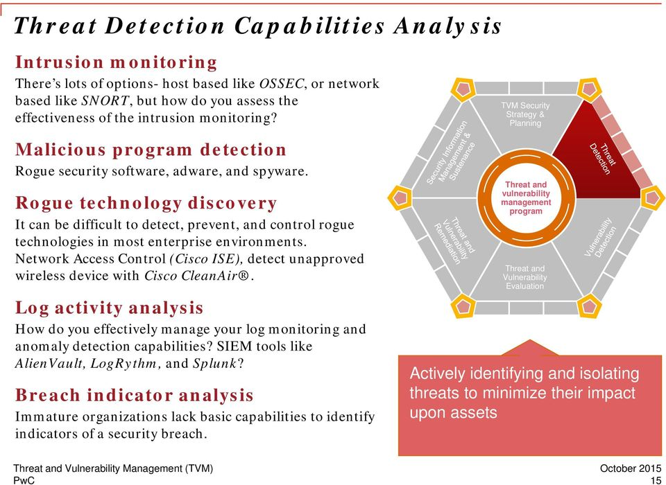 Rogue technology discovery It can be difficult to detect, prevent, and control rogue technologies in most enterprise environments.