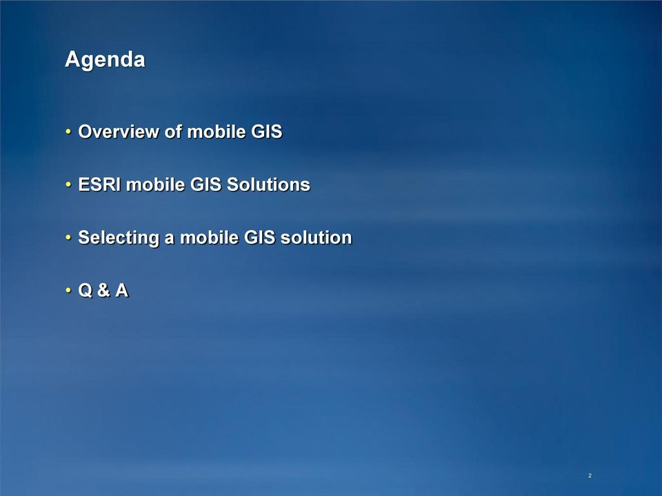 GIS Solutions Selecting
