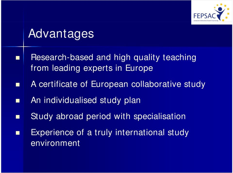 individualised study plan Study abroad period with specialisation E