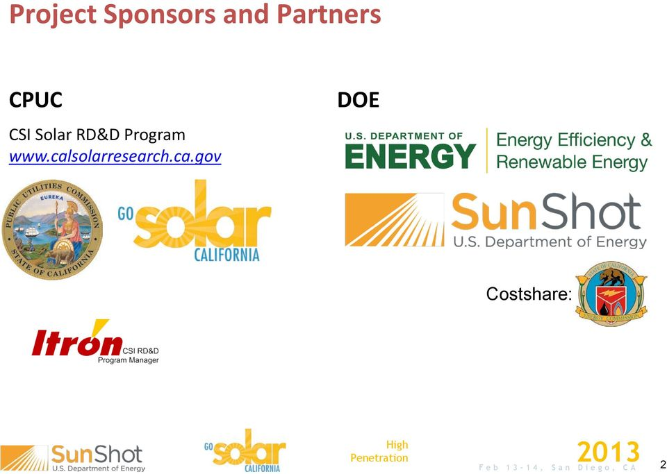 calsolarresearch.ca.gov DOE
