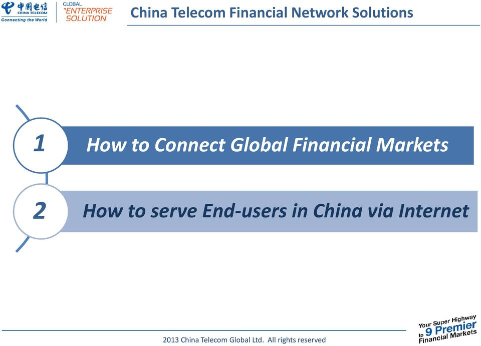 Global Financial Markets 2 How
