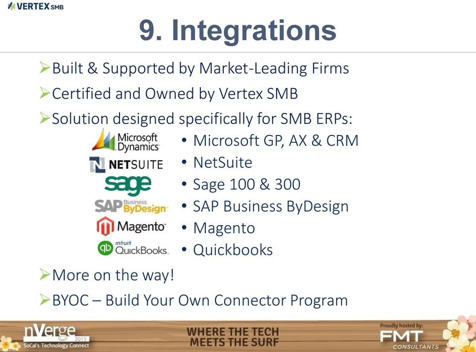 Microsoft GP, AX & CRM NetSuite Sage 100 & 300 SAP Business ByDesign