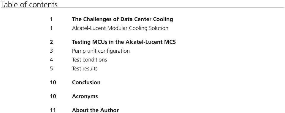 Alcatel-Lucent MCS 3 Pump unit configuration 4 Test