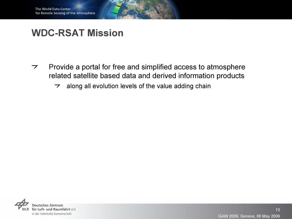 satellite based data and derived information