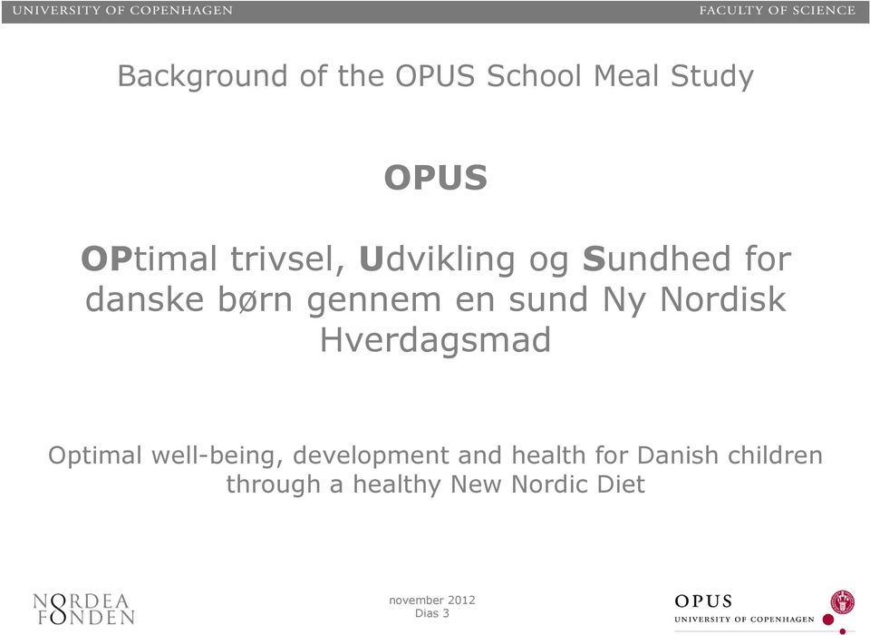Ny Nordisk Hverdagsmad Optimal well-being, development and