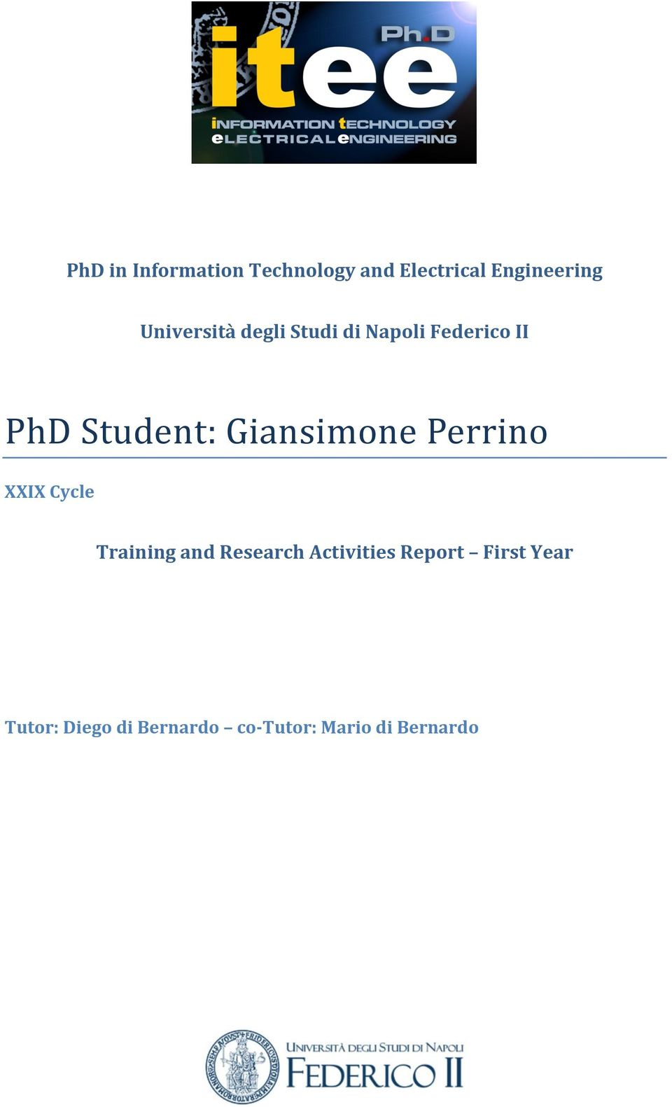 and Research Activities Report First Year