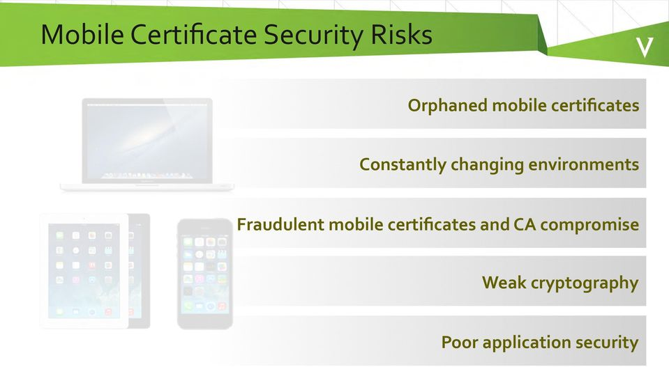 environments Fraudulent mobile certificates