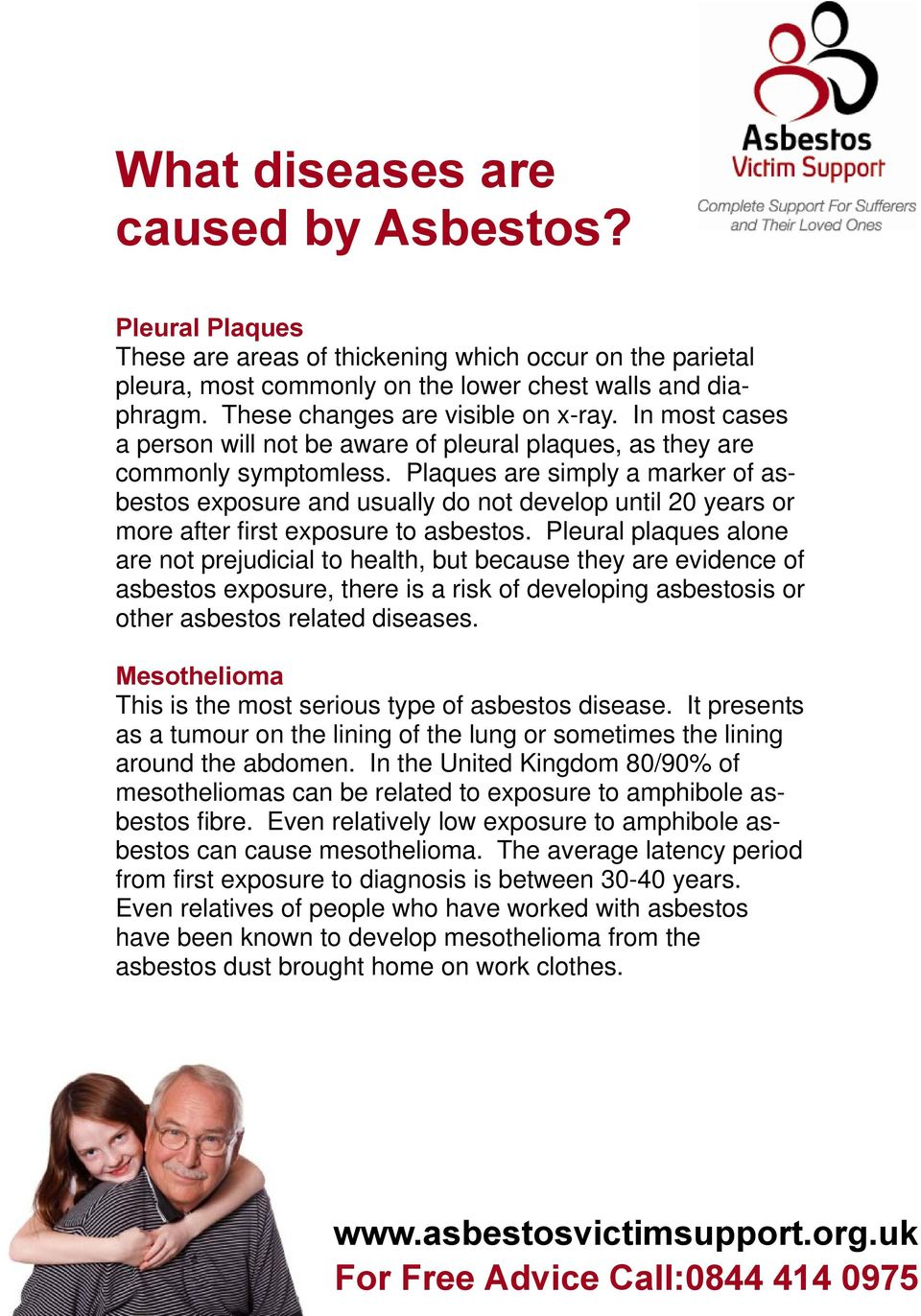 Plaques are simply a marker of asbestos exposure and usually do not develop until 20 years or more after first exposure to asbestos.