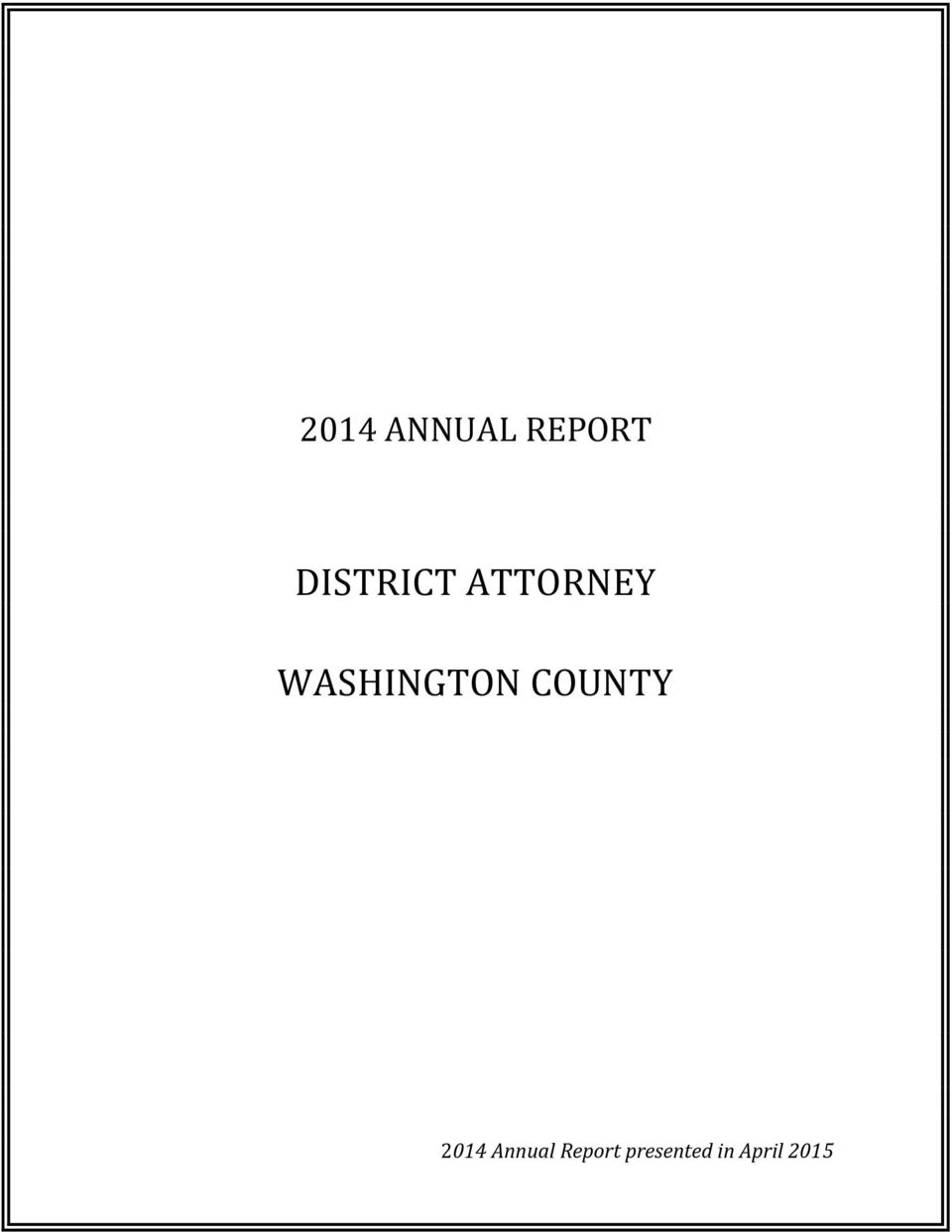 WASHINGTON COUNTY 2014